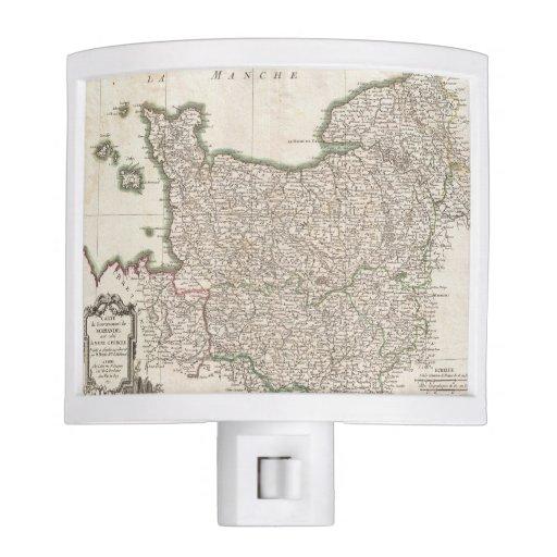 Vintage Map of Normandy (1771) Nite Lites