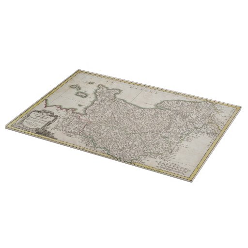 Vintage Map of Normandy (1771) Cutting Boards