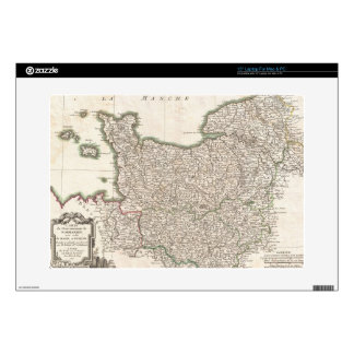 "Vintage Map of Normandy (1771) Decal For 15"" Laptop"