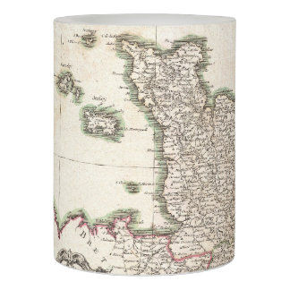 Vintage Map of Normandy (1771) Flameless Candle