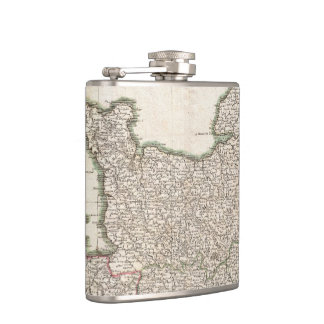 Vintage Map of Normandy (1771) Flask