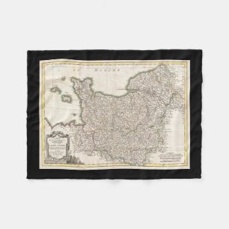 Vintage Map of Normandy (1771) Fleece Blanket