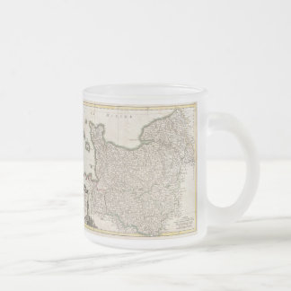 Vintage Map of Normandy (1771) Frosted Glass Coffee Mug