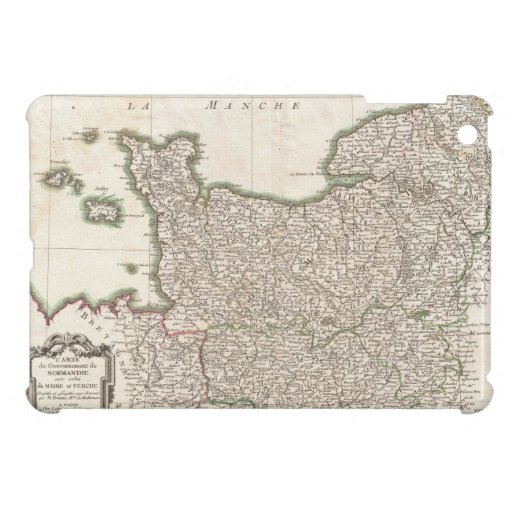 Vintage Map of Normandy (1771) iPad Mini Cases