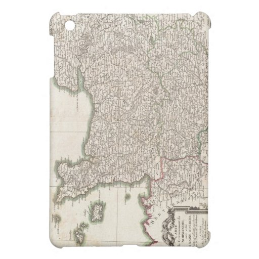 Vintage Map of Normandy (1771) iPad Mini Case