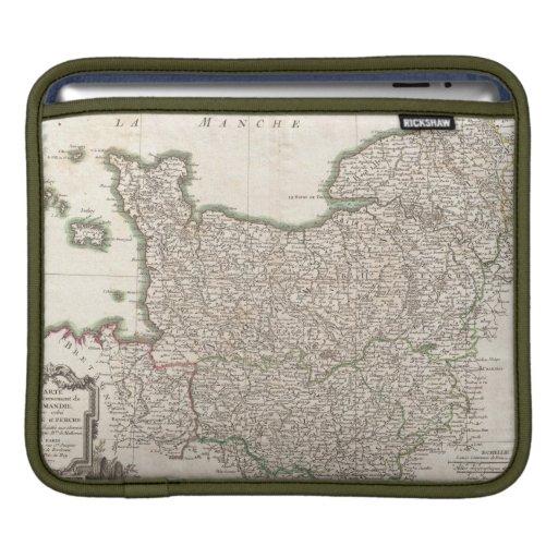 Vintage Map of Normandy (1771) iPad Sleeve