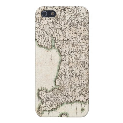 Vintage Map of Normandy (1771) iPhone 5 Case