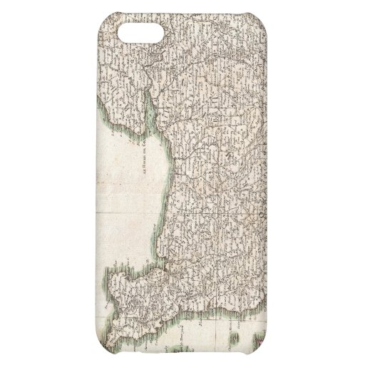 Vintage Map of Normandy (1771) iPhone 5C Cover