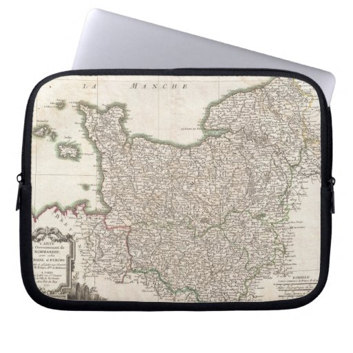 Vintage Map of Normandy (1771) Computer Sleeves