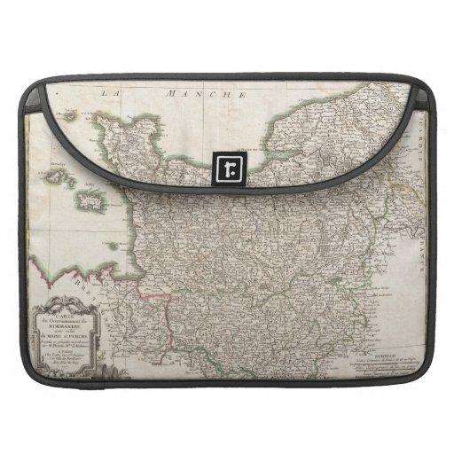 Vintage Map of Normandy (1771) MacBook Pro Sleeve