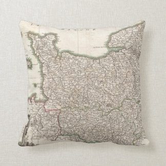 Vintage Map of Normandy (1771) Pillow