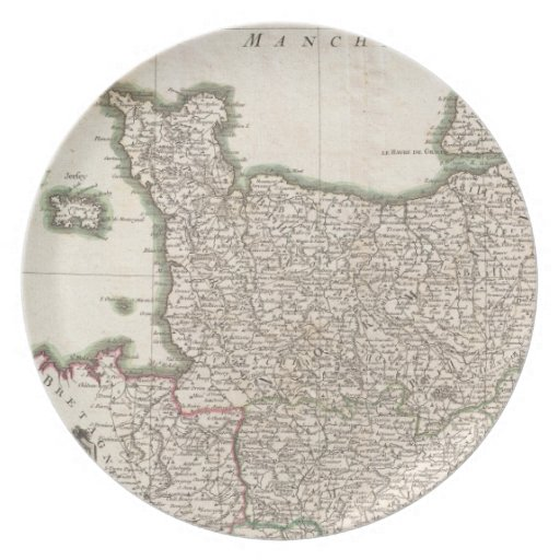 Vintage Map of Normandy (1771) Plate