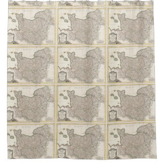 Vintage Map of Normandy (1771) Shower Curtain