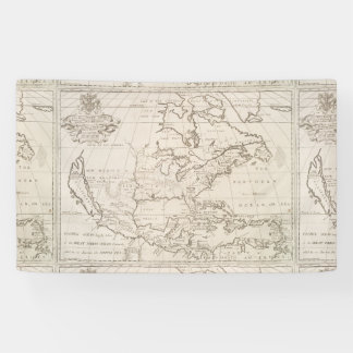 Vintage Map of North America (1719) Banner