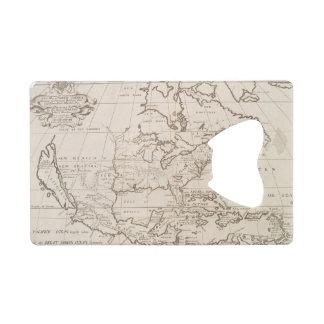 Vintage Map of North America (1719) Credit Card Bottle Opener