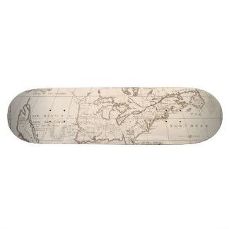 Vintage Map of North America (1719) Skateboard