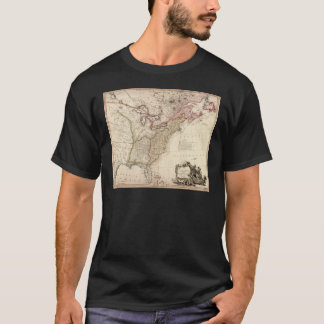 Vintage Map of North America T-Shirt