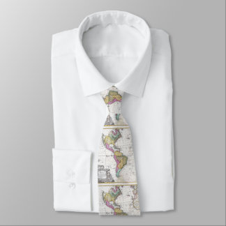 Vintage Map of North and South America (1746) Tie