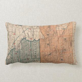 Vintage Map of North and South Dakota (1886) Lumbar Pillow