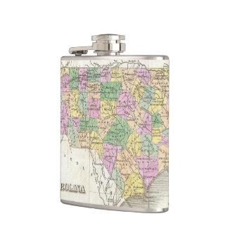 Vintage Map of North Carolina (1827) Flasks