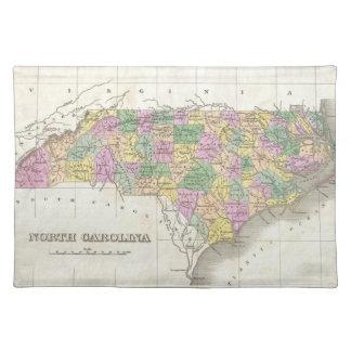 Vintage Map of North Carolina (1827) Place Mats