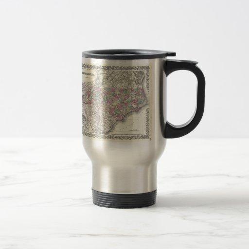 Vintage Map of North Carolina (1855) Coffee Mug