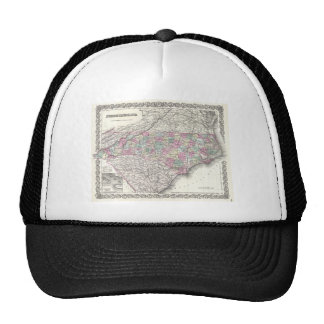 Vintage Map of North Carolina (1855) Mesh Hat