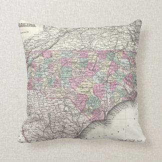 Vintage Map of North Carolina (1855) Pillow