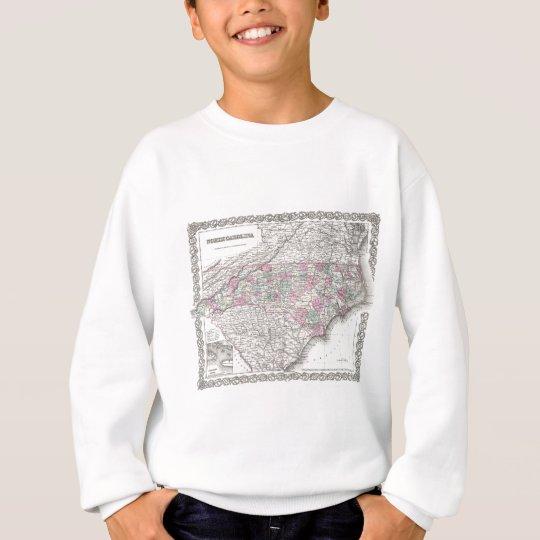 Vintage Map of North Carolina (1855) Sweatshirt
