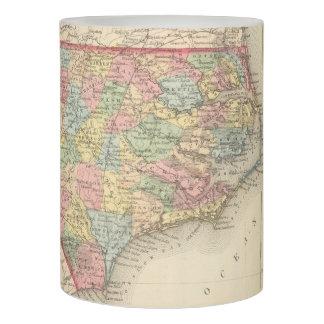 Vintage Map of North Carolina (1859) Flameless Candle