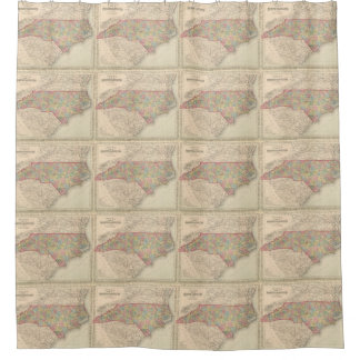 Vintage Map of North Carolina (1859) Shower Curtain