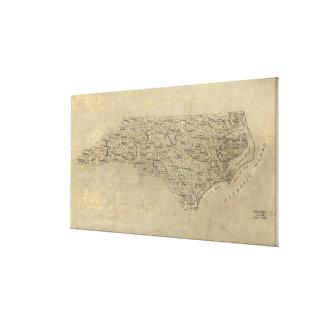 Vintage Map of North Carolina (1893) Canvas Print