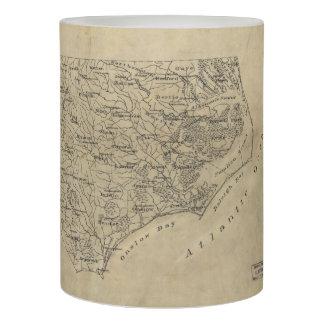 Vintage Map of North Carolina (1893) Flameless Candle
