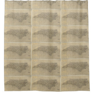 Vintage Map of North Carolina (1893) Shower Curtain