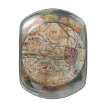 Vintage Map of Northeastern Virginia (1862) Jelly Belly Candy Jar