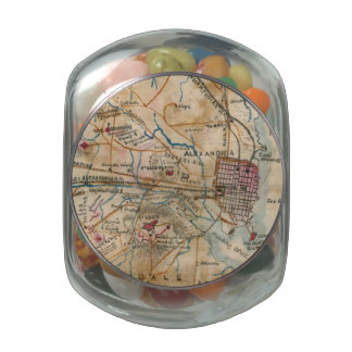 Vintage Map of Northeastern Virginia (1862) Jelly Belly Candy Jars