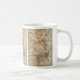 Vintage Map of Northeastern Virginia (1862) Coffee Mug