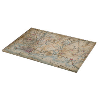 Vintage Map of Northeastern Virginia (1862) Cutting Boards