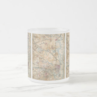 Vintage Map of Northeastern Virginia (1862) Frosted Glass Coffee Mug