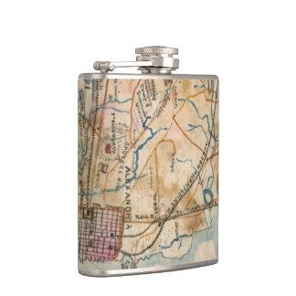 Vintage Map of Northeastern Virginia (1862) Hip Flasks