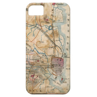 Vintage Map of Northeastern Virginia (1862) iPhone SE/5/5s Case