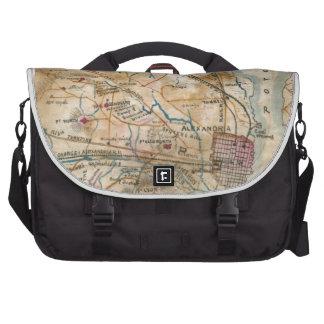 Vintage Map of Northeastern Virginia (1862) Commuter Bag