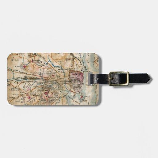 Vintage Map of Northeastern Virginia (1862) Luggage Tag