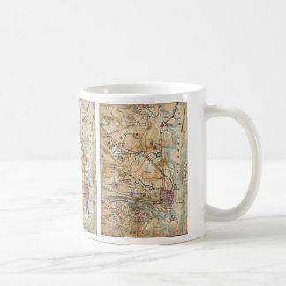 Vintage Map of Northeastern Virginia (1862) Classic White Coffee Mug