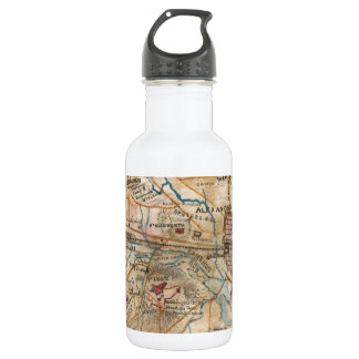 Vintage Map of Northeastern Virginia (1862) 18oz Water Bottle