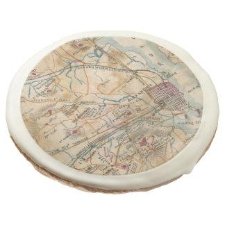 Vintage Map of Northeastern Virginia (1862) Sugar Cookie