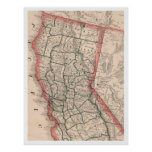 Vintage Map of Northern California (1883) Poster
