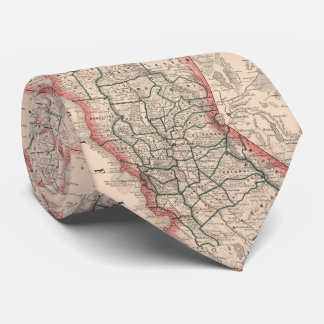Vintage Map of Northern California (1883) Tie