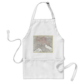 Vintage Map of Northern Italy (1720) Adult Apron