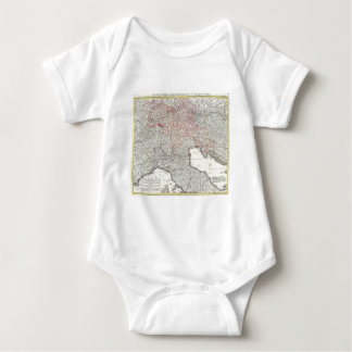 Vintage Map of Northern Italy (1720) Baby Bodysuit